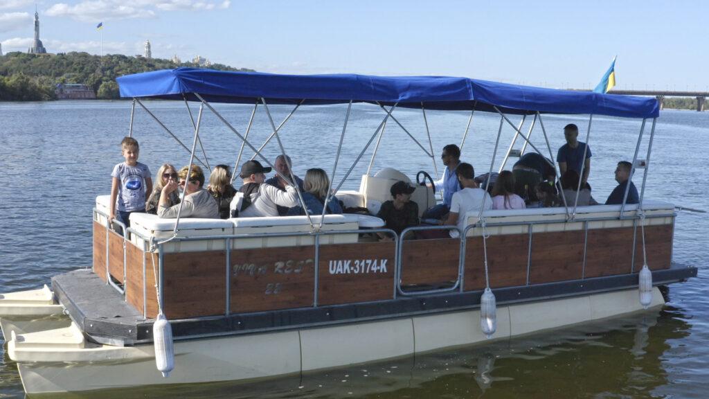 pontoon boat 3 Łódź pontonowa